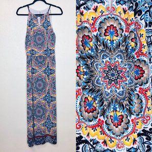 London Times Turkish Tile Maxi Dress